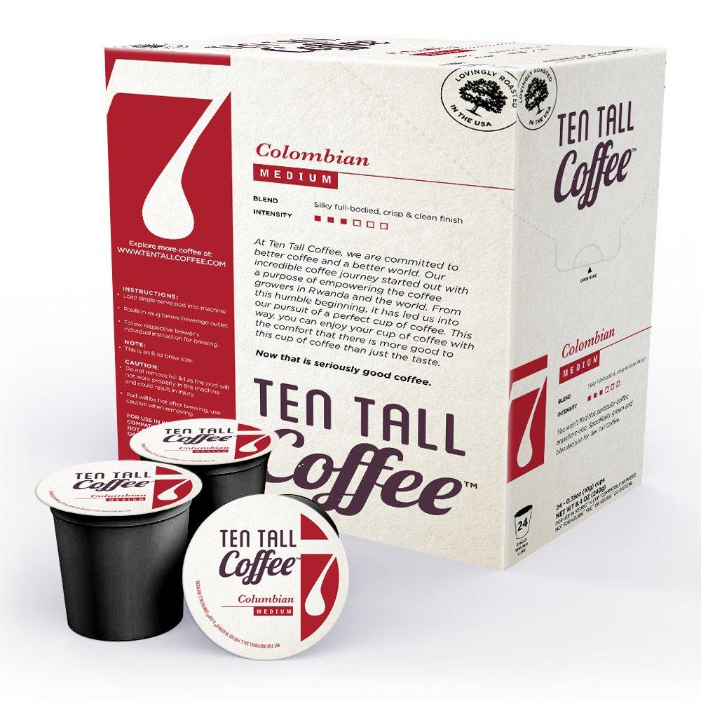 Ten Tall Columbian Coffee Single Brew Cup Keystone Water